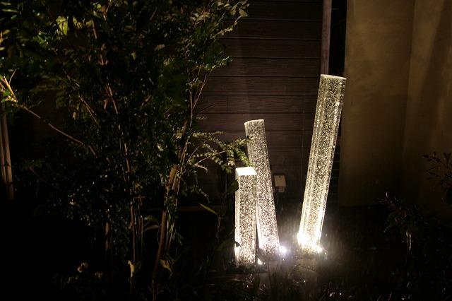 坪庭をライトアップ ㈱ひまわりライフ® 兵庫県N様邸 Spectacular garden lighting by lighting professionals. Enjoy a dramatic, romantic, even mysterious scene comparing to a day time.