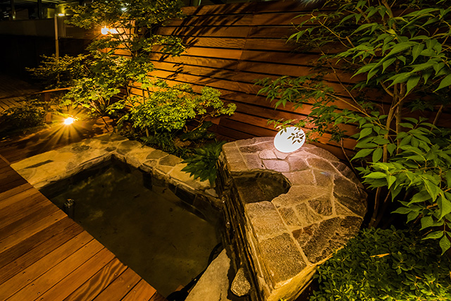 美しいビオトープガーデン 癒樹工房 埼玉北支店 埼玉県F様邸 Spectacular garden lighting by lighting professionals. Enjoy a dramatic, romantic, even mysterious scene comparing to a day time.