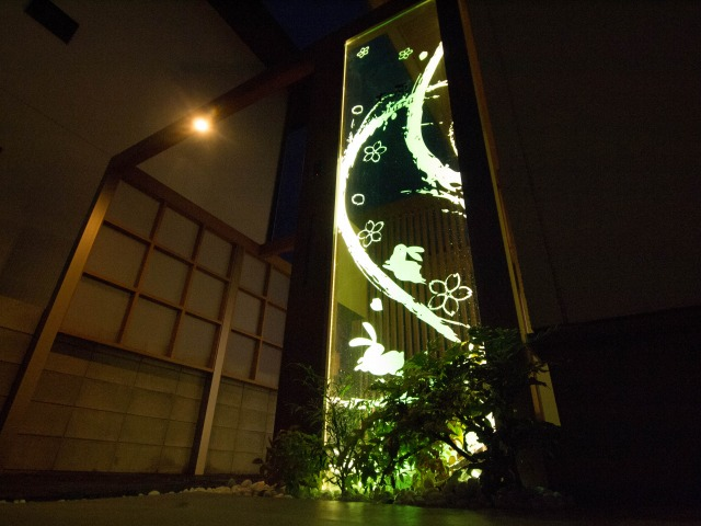 夜景の兎 株式会社エバーグリーンエクステリア 岡山県K様邸 Spectacular garden lighting by lighting professionals. Enjoy a dramatic, romantic, even mysterious scene comparing to a day time.